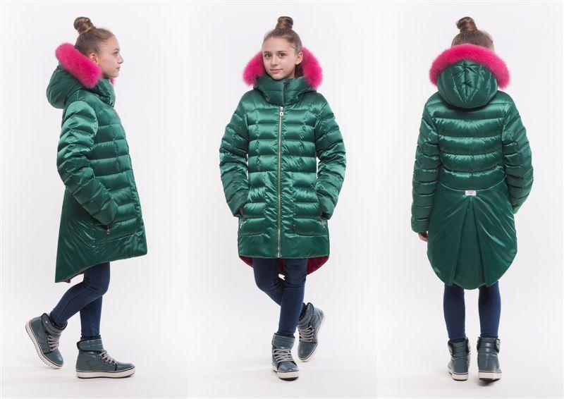 детское зимнее пальто оверсайз