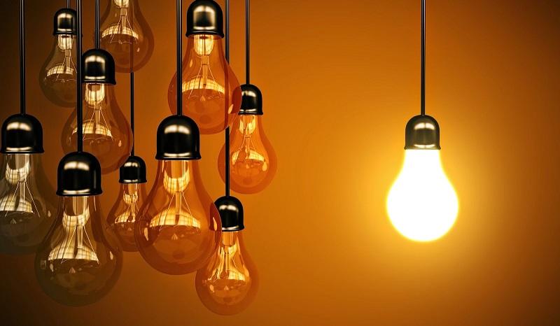 освещение лампочки