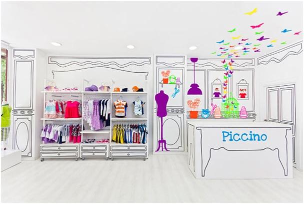 яркий интерьер детского магазина