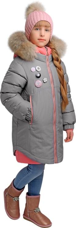 деткая зимняя куртка для девочки gnk