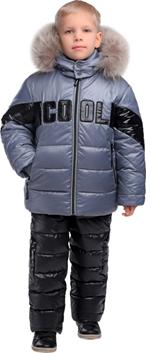 детский утемленный костюм с лаковыми вставками