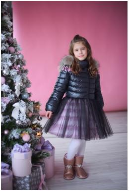 зимнее пальто для девочки от GnK ЗС-775