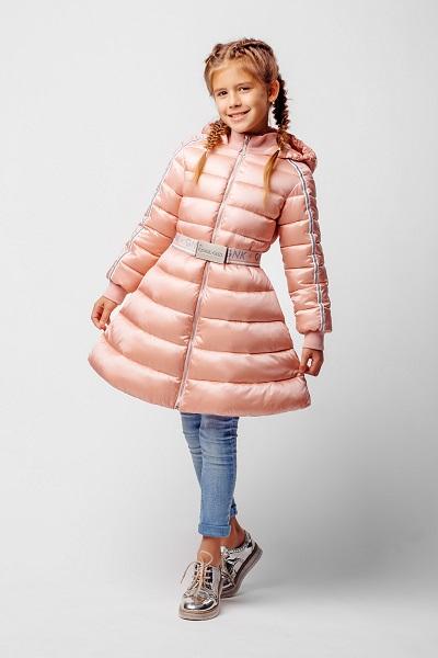 Пальто для девочки С-634. Название цвета «Чайная роза» фото