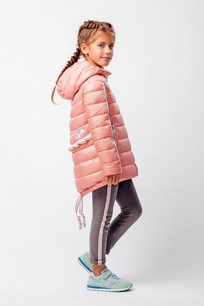 Куртка для девочки С-605. Название цвета «Нежно-коралловый» фото