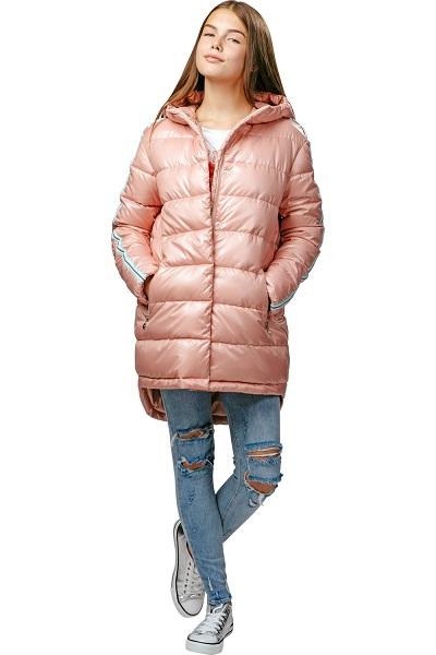 Куртка для девочки С-607. Название цвета «Розовая пудра» фото
