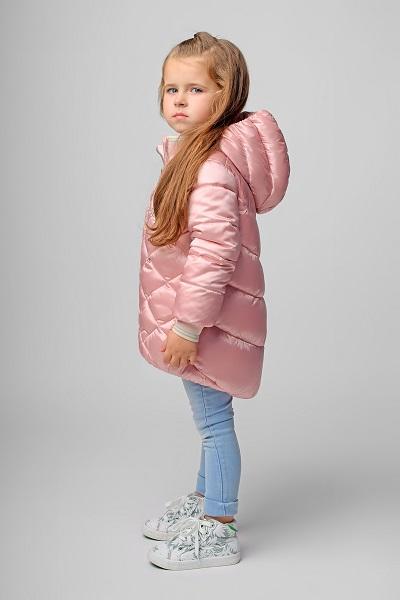 Куртка для девочки С-603. Название цвета «Насыщенный розовый» фото