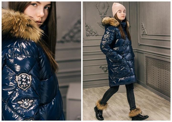 зимнее пальто для девочки ЗС-823 фото