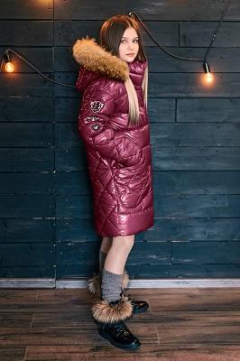 Лаковое пальто для девочки ЗС-823 фото