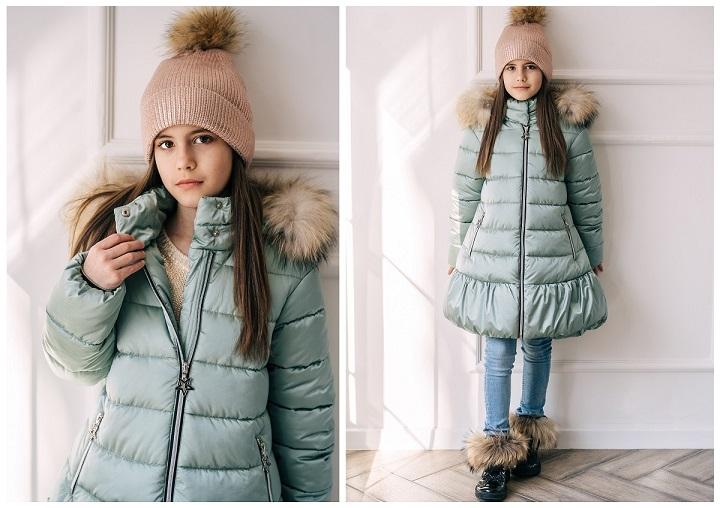 зимнее пальто для девочки ЗС-817 фото