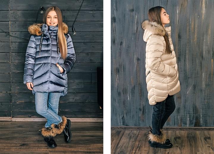 удлиненная куртка для девочки ЗС-837 фото
