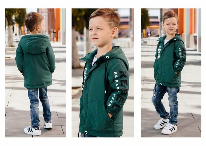 Куртка для мальчика С-704 зеленая фото