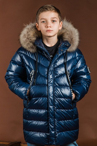 Куртка для мальчика З-889 синяя