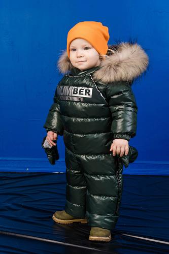 зеленый комбинезон трансформер для мальчика зимний