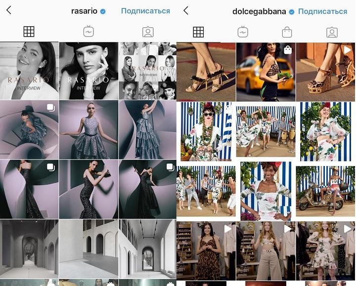 RASARIO и Dolce&Gabbana инстаграм