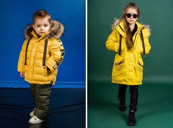 желтая детская верхняя одежда gnk