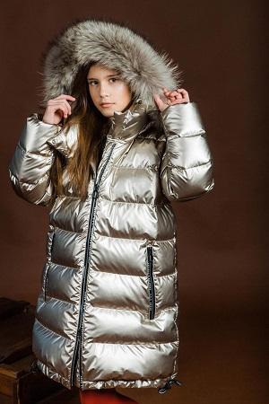 Пальто для девочки З-871 капучино