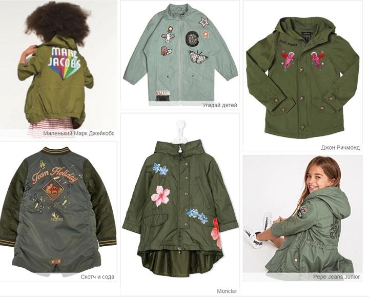 стиль миритари в детской одежде фото