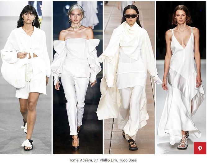 белый цвет в моде фото