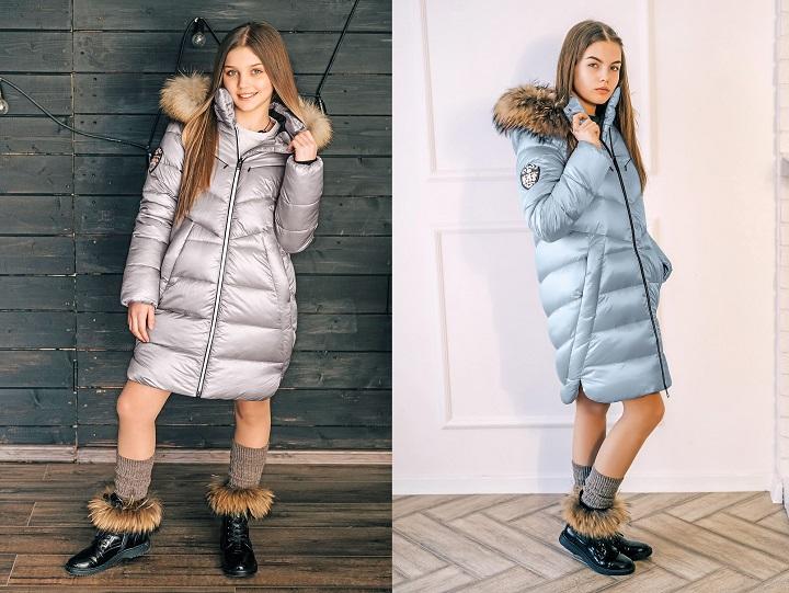 зимнее пальто для девочки ЗС-826 фото
