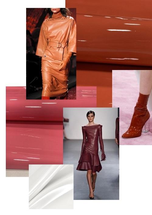 лаковая одежда в моде