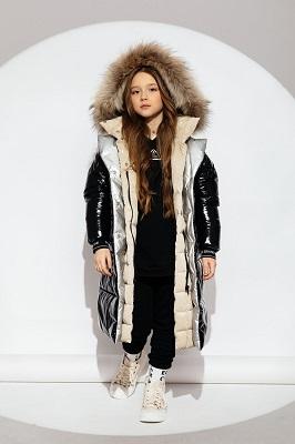 многослойное пальто зимнее для девочки gnk
