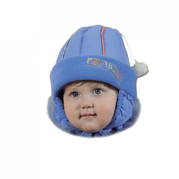 детские шапки с меховым помпоном купить.